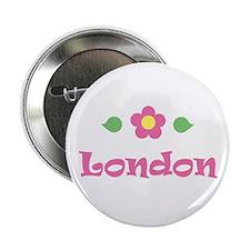 "Pink Daisy - ""London"" Button"