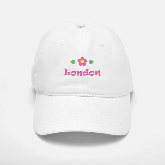 "Pink Daisy - ""London"" Baseball Baseball Cap"