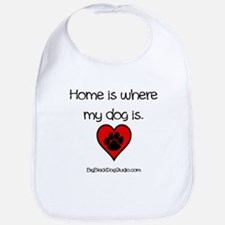 Home is where my dog is Baby Bib