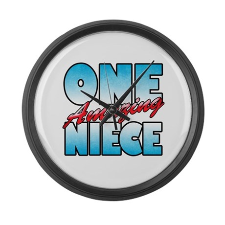 one amazing niece large wall clock by pixelstreetfam