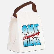 One Amazing Niece Canvas Lunch Bag