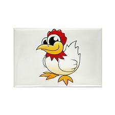 Cartoon Chicken Rectangle Magnet