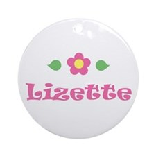 "Pink Daisy - ""Lizette"" Ornament (Round)"