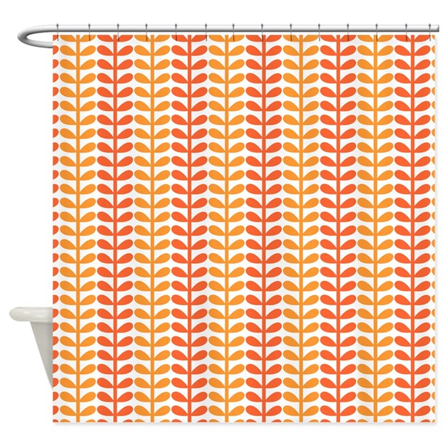 Funky Kitchen Curtains: Funky Orange Leaves Shower Curtain By PinkInkArt2