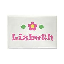 """Pink Daisy - """"Lizbeth"""" Rectangle Magnet"""