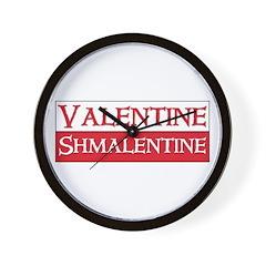 Valentine Shmalentine Anti Love Cynical Wall Clock