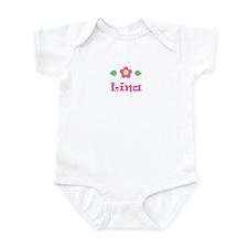 """Pink Daisy - """"Lina"""" Infant Bodysuit"""