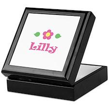"Pink Daisy - ""Lilly"" Keepsake Box"