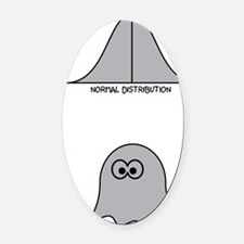 Paranormal Distribution Oval Car Magnet