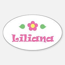 "Pink Daisy - ""Liliana"" Oval Decal"