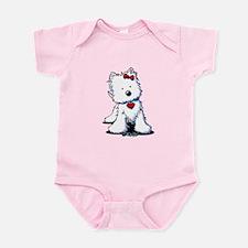 Westie Heart Girl Infant Bodysuit