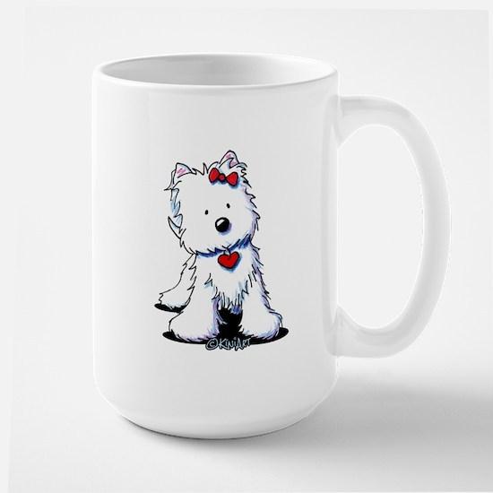 Westie Heart Girl Large Mug