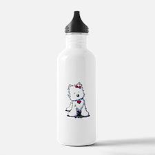 Westie Heart Girl Water Bottle