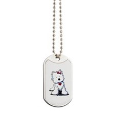 Westie Heart Girl Dog Tags