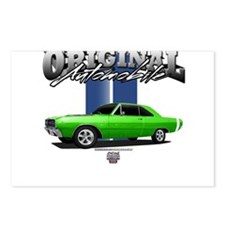 NEW GREEN CAR Postcards (Package of 8)