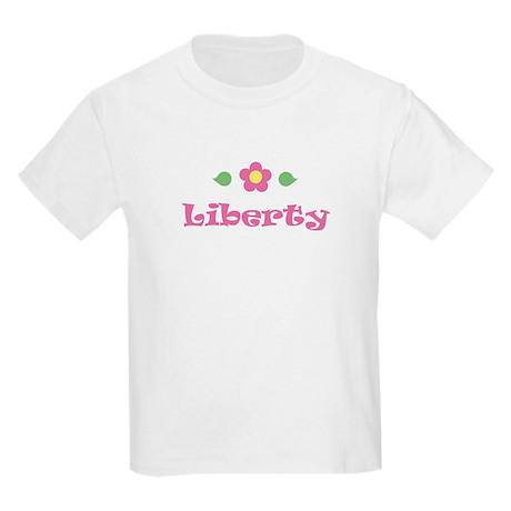 """Pink Daisy - """"Liberty"""" Kids T-Shirt"""