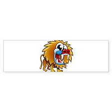 Cartoon Baboon Bumper Sticker