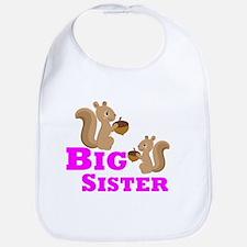 Big Sister Squirrel Bib