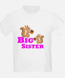 Big Sister Squirrel T-Shirt