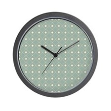 Cool Blue Abstract Diamonds Wall Clock