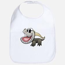 Cartoon Honey Badger Bib