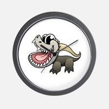Cartoon Honey Badger Wall Clock