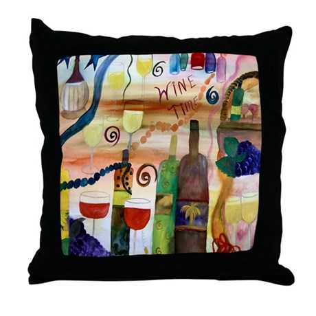 Wine Time Throw Pillow