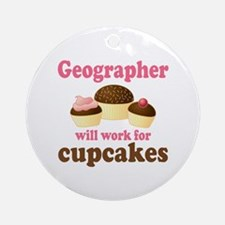 Funny Geographer Ornament (Round)
