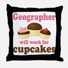 Funny Geographer Throw Pillow