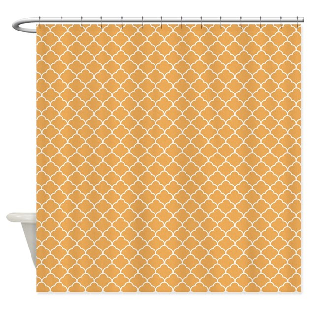 moroccan peach shower curtain by zenchic