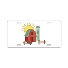 Farm Raised Aluminum License Plate