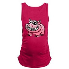 Cartoon Pig Maternity Tank Top