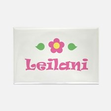 """Pink Daisy - """"Leilani"""" Rectangle Magnet"""