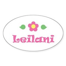 "Pink Daisy - ""Leilani"" Oval Decal"