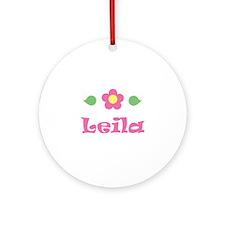 "Pink Daisy - ""Leila"" Ornament (Round)"
