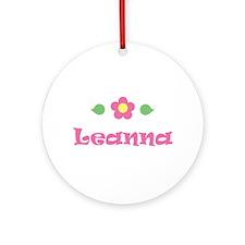 "Pink Daisy - ""Leanna"" Ornament (Round)"