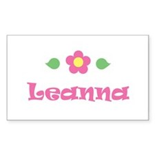 "Pink Daisy - ""Leanna"" Rectangle Decal"