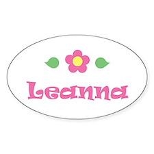 """Pink Daisy - """"Leanna"""" Oval Decal"""