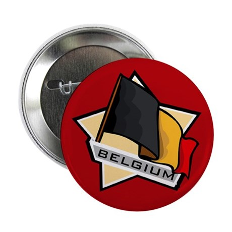 """Belgium Star Flag"" 2.25"" Button (10 pack)"