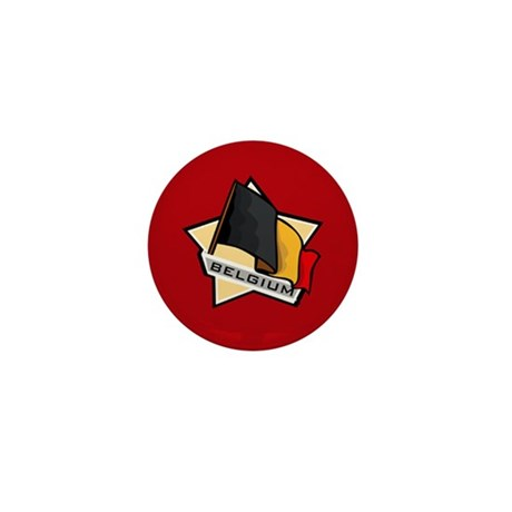 """Belgium Star Flag"" Mini Button"