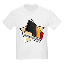 """Belgium Star Flag"" T-Shirt"