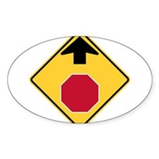 Stop Ahead Sign Decal