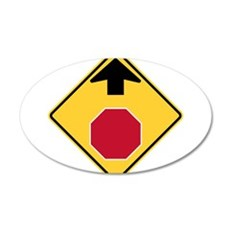Stop Ahead Sign Wall Decal