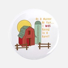 "Raised in a Barn 3.5"" Button"