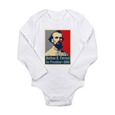 Forrest for President Long Sleeve Infant Bodysuit