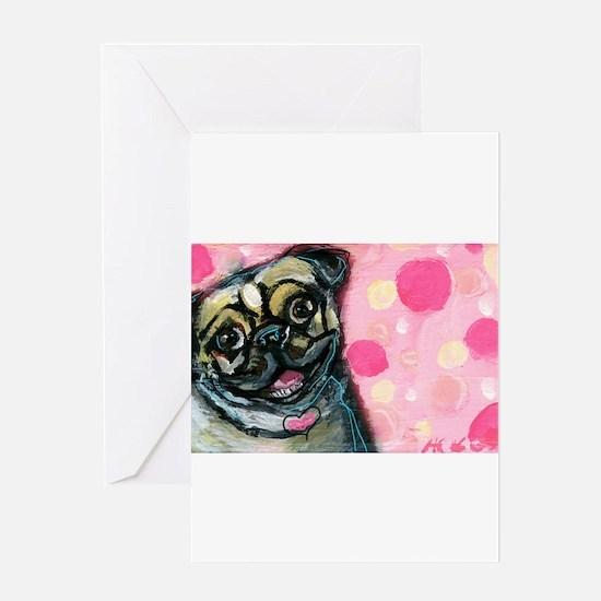 Pug Love Greeting Cards
