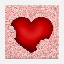 Love Bites Eat Heart Out Tile Coaster