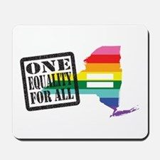 New York one equality blk Mousepad