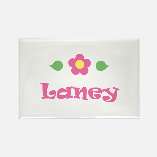 """Pink Daisy - """"Laney"""" Rectangle Magnet"""