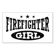Firefighter Girl Decal